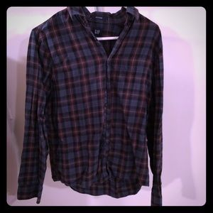 Flannel plaid cotton GAP button down shirt